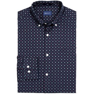 Gant Marine Slim Fit Scribble Print Shirt