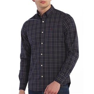 Gant Navy Tattersall Slim Shirt