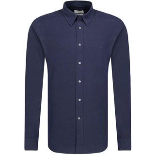 Calvin Klein Navy Cotton Poplin Shirt