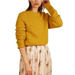 FRNCH Paris Yellow North Crew Neck Sweater