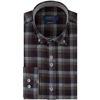 Benetti Wine Grant Flannel Check Shirt