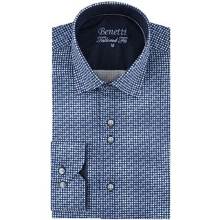 Benetti Navy Willis  Pattern Casual Shirt