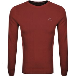 Gant Crimson Red Piqué Crew Sweater