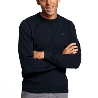 Gant Evening Blue Honeycomb Crew Sweater
