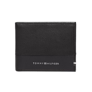 Tommy Accessories Black Small Contrast Panel Leather Wallet