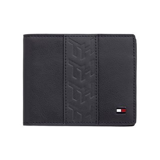 Tommy Accessories Black Small Stripe Detail Leather Wallet