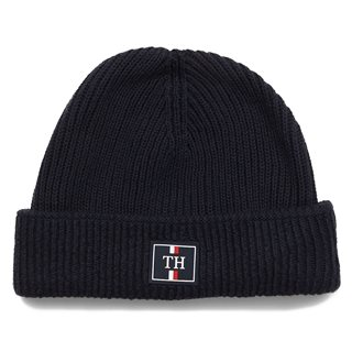 Tommy Accessories Sky Captain Patch Logo Beanie