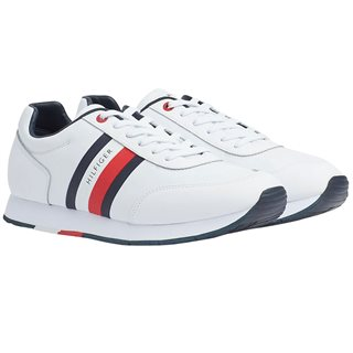 Tommy Hilfiger Footwear White Flag Leather Trainers