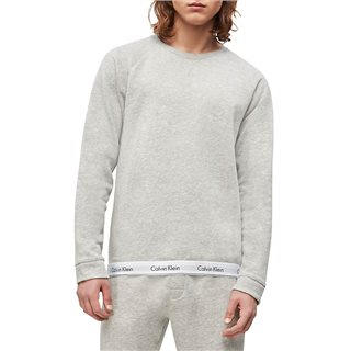 Calvin Klein Grey Heather Lounge Sweatshirt Modern Cotton
