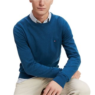 Tommy Hilfiger Mariner Blue Luxury Touch Crew Neck Sweater