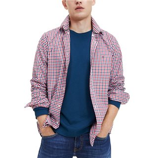 Tommy Hilfiger Primary Red Flex Gingham Shirt