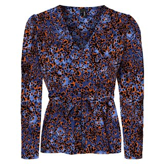 Vero Moda Mazarine Blue Laia V-Neck Belt Top
