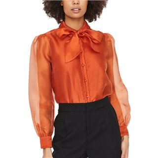 Vero Moda Cinnamon Stick Bow Tie Shirt