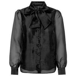 Vero Moda Black Bow Tie Shirt