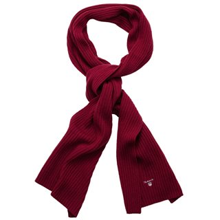 Gant Mahogny Red Wool Knit Scarf