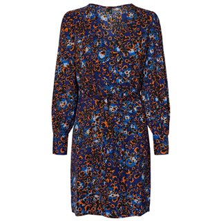 Vero Moda Mazarine Blue Laila Wrap Midi Dress