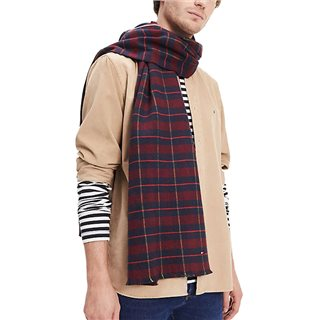 Tommy Accessories Winetasting Pure Cotton Tartan Scarf