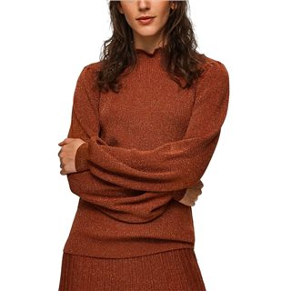 Selected Femme Ginger Bread Frill Neck Jumper
