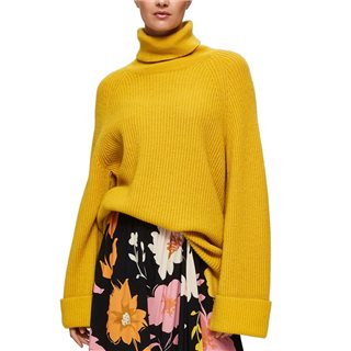 Selected Femme Lemon Curry Roll Neck Jumper