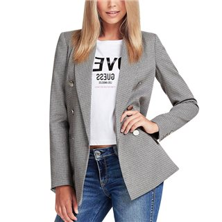 Guess Grey Double-Breasted Blazer