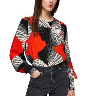 Selected Femme Orange Wrap Blouse