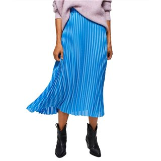 Selected Femme Blue Pleated Maxi Skirt