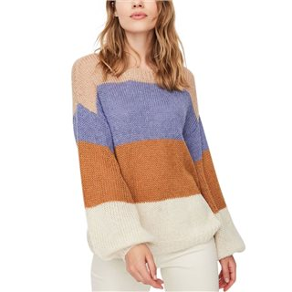 Vero Moda Blue Ice Loose Fitted Knitted Pullover