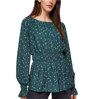 Selected Femme Jungle Green Pleated Blouse