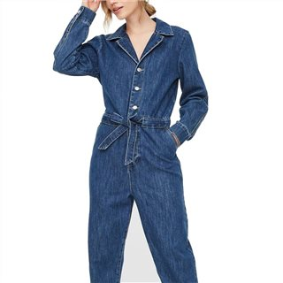 Vero Moda Dark Blue Denim Phoeba Jumpsuit
