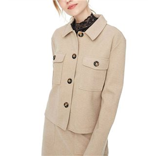 Vero Moda Brown Felicity Overshirt Jacket
