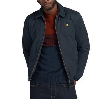 Lyle & Scott Dark Navy Wadded Harrington Jacket