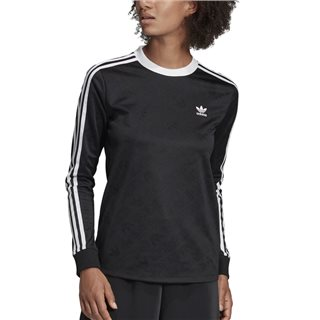 adidas Originals Black 3-Stripes Long Sleeve T-Shirt