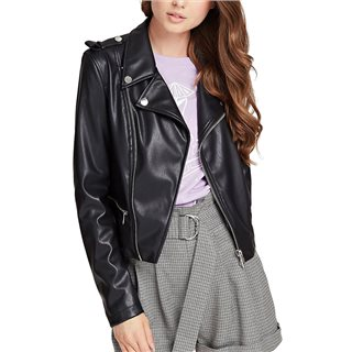 Guess Black Faux Leather Jacket