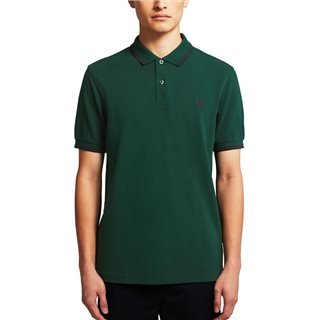 Fred Perry Ivy / Navy M3600 Twin Tipped Polo Shirt