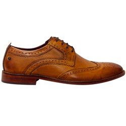 Base London Tan Motif Lace Up Brogues