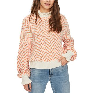Vero Moda Birch Coral Rose High Neck Blouse