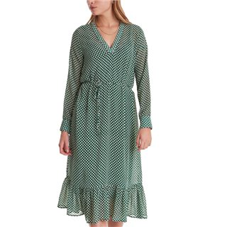 ICHI Dark Green Lona Midi Dress