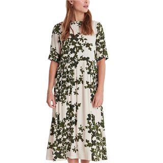 ICHI Dark Green Annelle Printed Dress