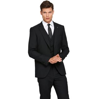 Benetti Black James Tapered Fit Suit Jacket