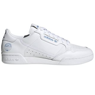 adidas Originals White / Blue Continental 80 Trainers