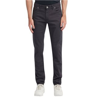 Farah Charcoal Drake Slim Fit Cotton Twill Trousers