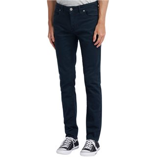Farah True Navy Drake Slim Fit Cotton Twill Trousers