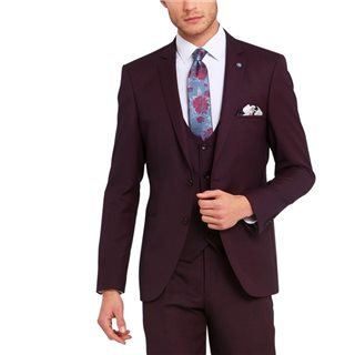 Benetti Wine Emmett Tailored Fit 3-Piece Suit