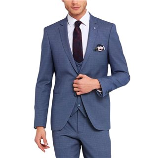 Benetti Sky Blue Emmett Tailored Fit 3-Piece Suit