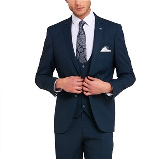 Benetti Teal Emmett Tailored Fit 3-Piece Suit