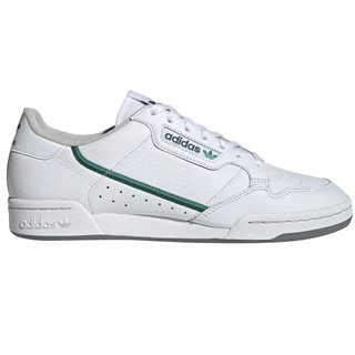 adidas Originals White / Glory Green Continental 80 Trainers