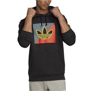 adidas Originals Black Diagonal Embroidered Hoodie