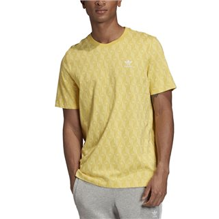 adidas Originals Yellow Mono Allover Print T-Shirt