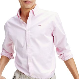 Tommy Jeans Pearly Pink Stretch Cotton Oxford Shirt