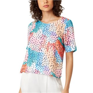 Traffic People Multicoloured Tresspass Watercolour Short Sleeve Top